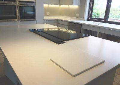 Corian Venaro White Worktop and Island (3)