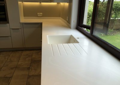 Corian Venaro White Worktop and Island