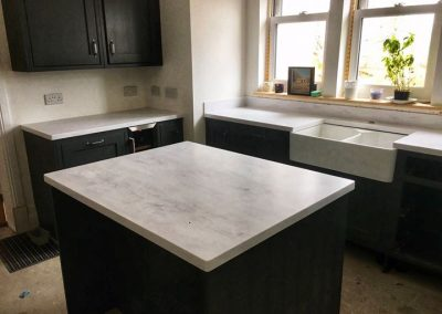 Krion Carrara Soft Worktops and Island