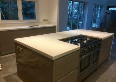 Krion Polar Stone Island and Worktop (2)