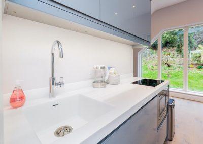 Kitchen island premium worktop in kitchen